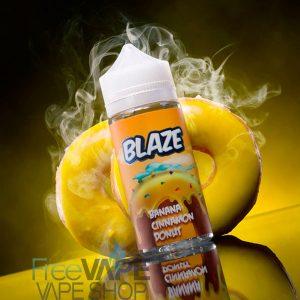 Жидкость для вейпа BLAZE Banana Cinnamon Donut.