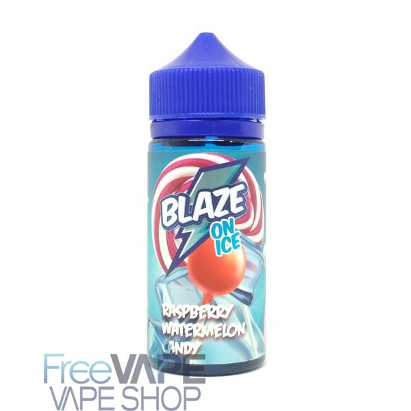 Жидкость для вейпа BLAZE ON ICE Raspberry Watermelon Candy.